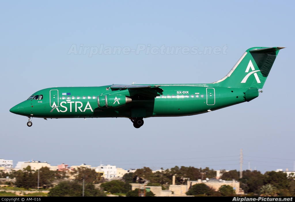 Astra Airlines SX-DIX aircraft at Malta Intl