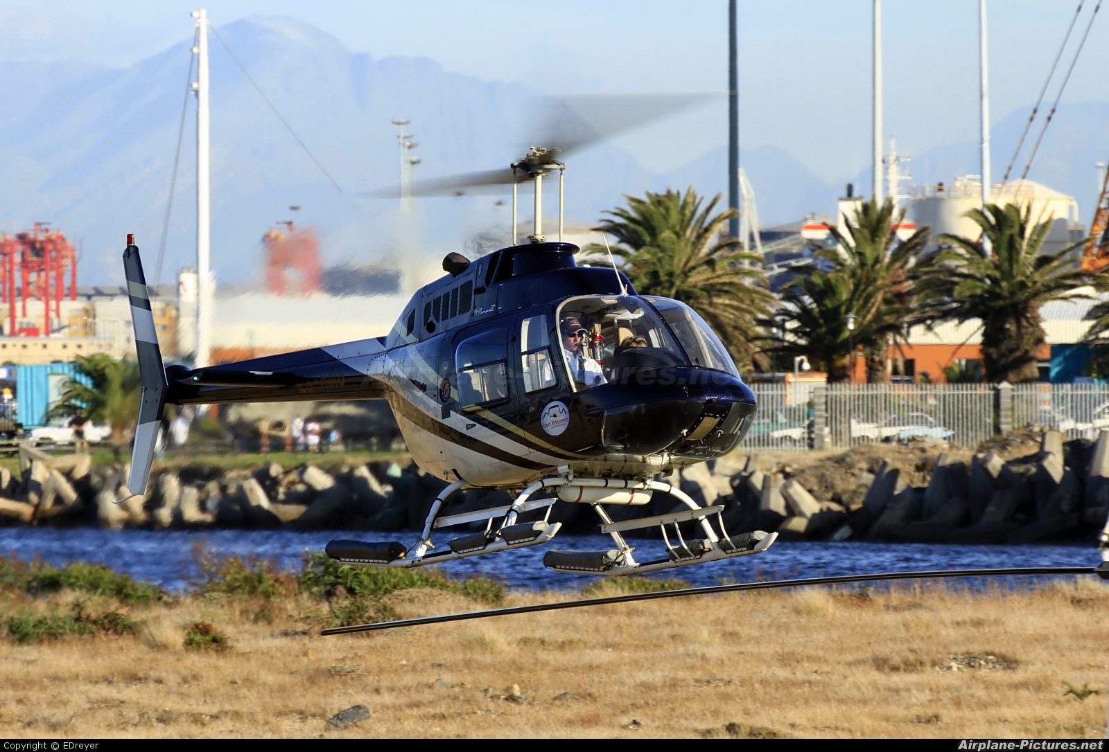 Base 4 ZS-HMB aircraft at Heliport (V&A Waterfront)