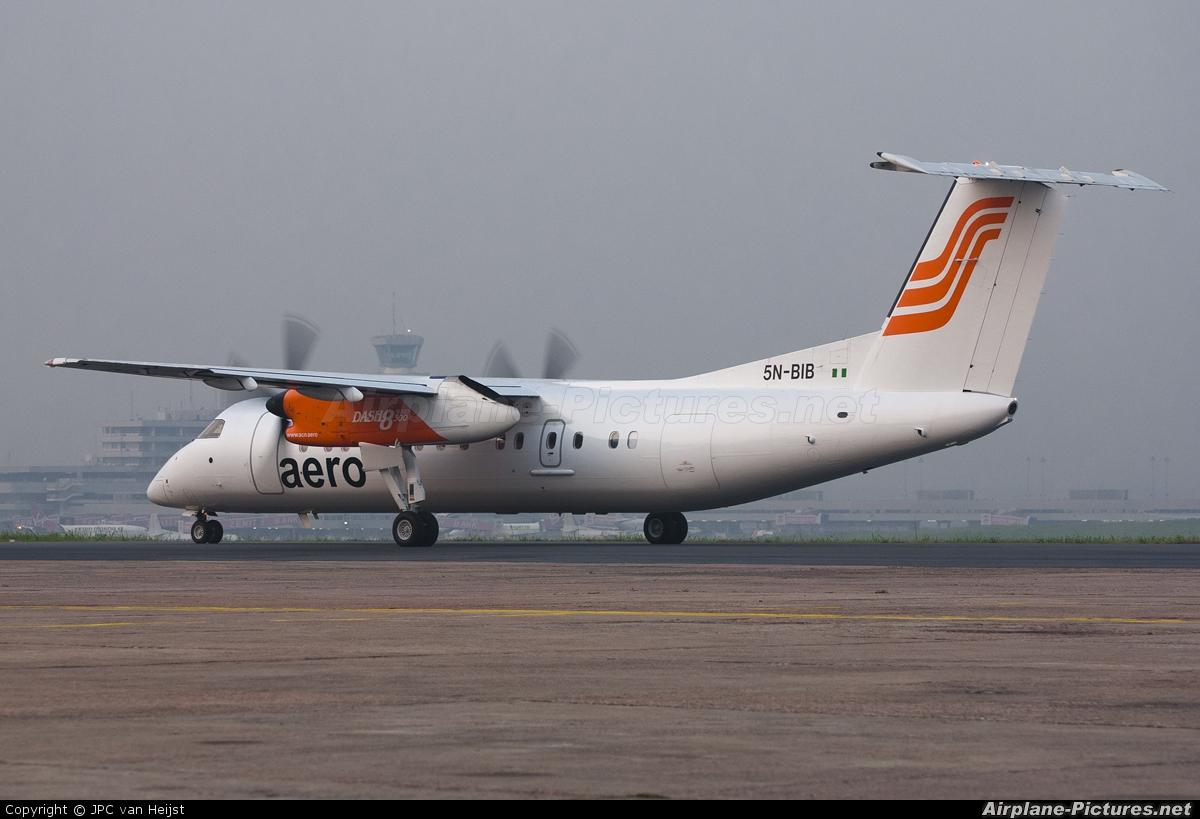 Aero Contractors Nigeria 5N-BIB aircraft at Lagos - Murtala Muhammed