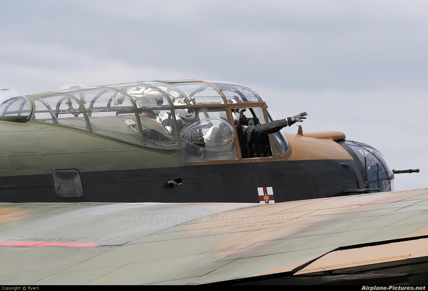 "Royal Air Force ""Battle of Britain Memorial Flight&quot PA474 aircraft at Farnborough"
