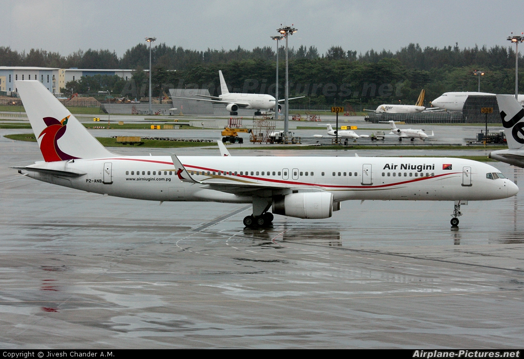 Air Niugini P2-ANB aircraft at Singapore - Changi