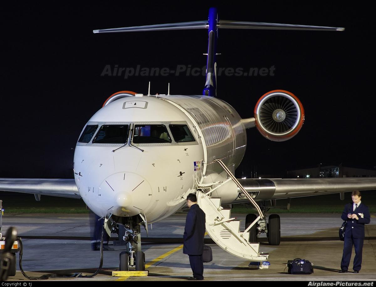 SAS - Scandinavian Airlines OY-KFA aircraft at Gdansk - Lech Walesa
