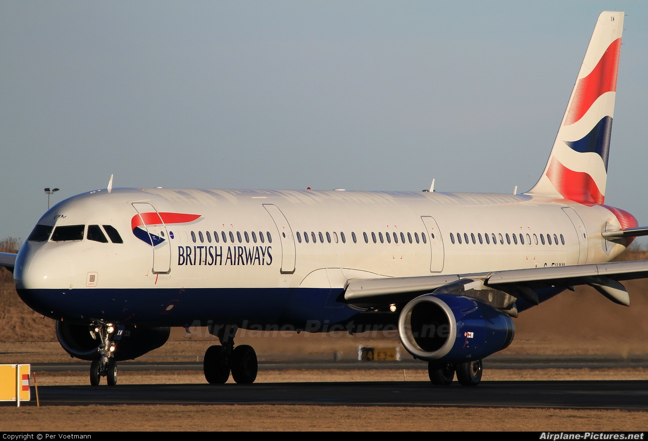 British Airways G-EUXM aircraft at Copenhagen Kastrup