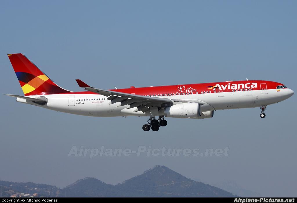 Avianca N973AV aircraft at Barcelona - El Prat