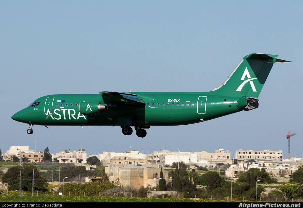 Astra Airlines SX-DIX aircraft at Malta Int