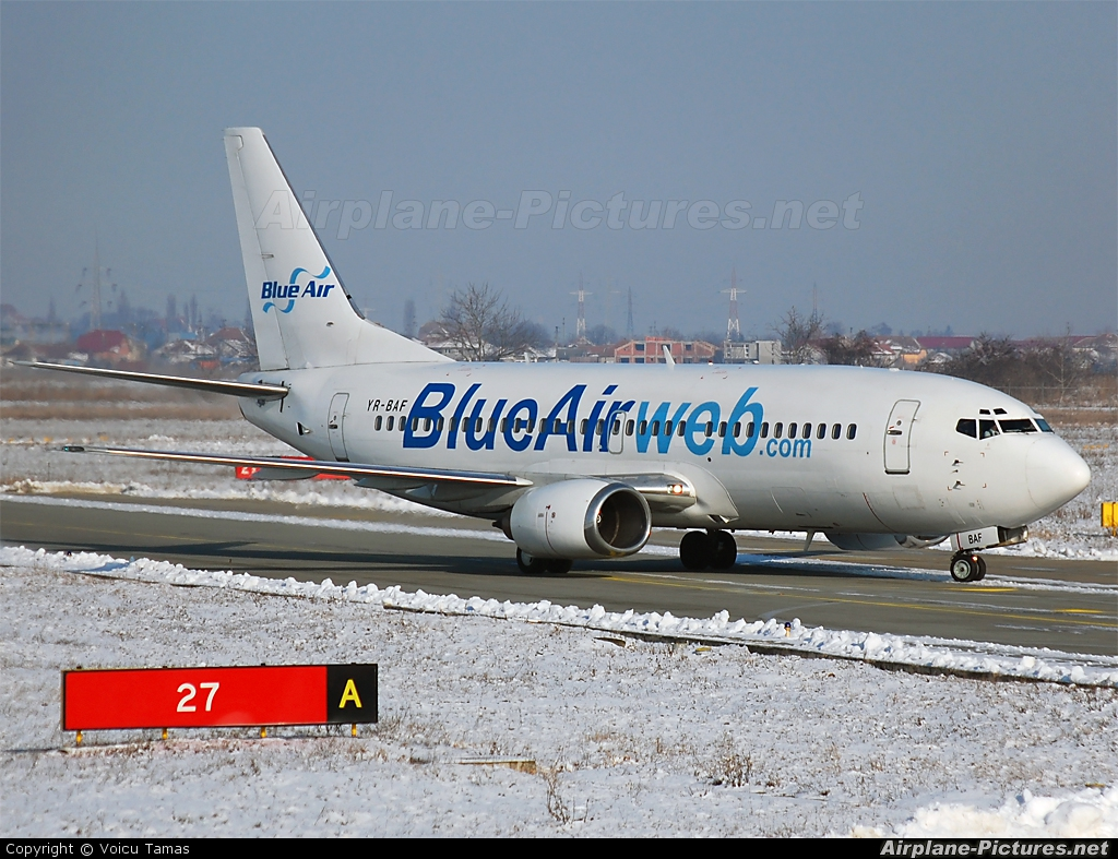 Blue Air YR-BAF aircraft at Arad