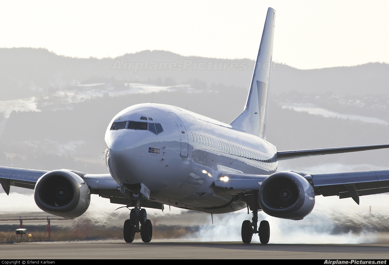 SAS - Scandinavian Airlines LN-BUD aircraft at Trondheim - Vaernes