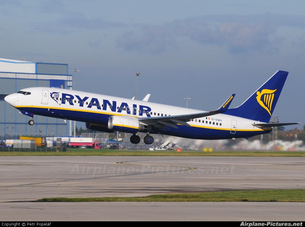 Ryanair EI-DWV aircraft at Prague - Václav Havel
