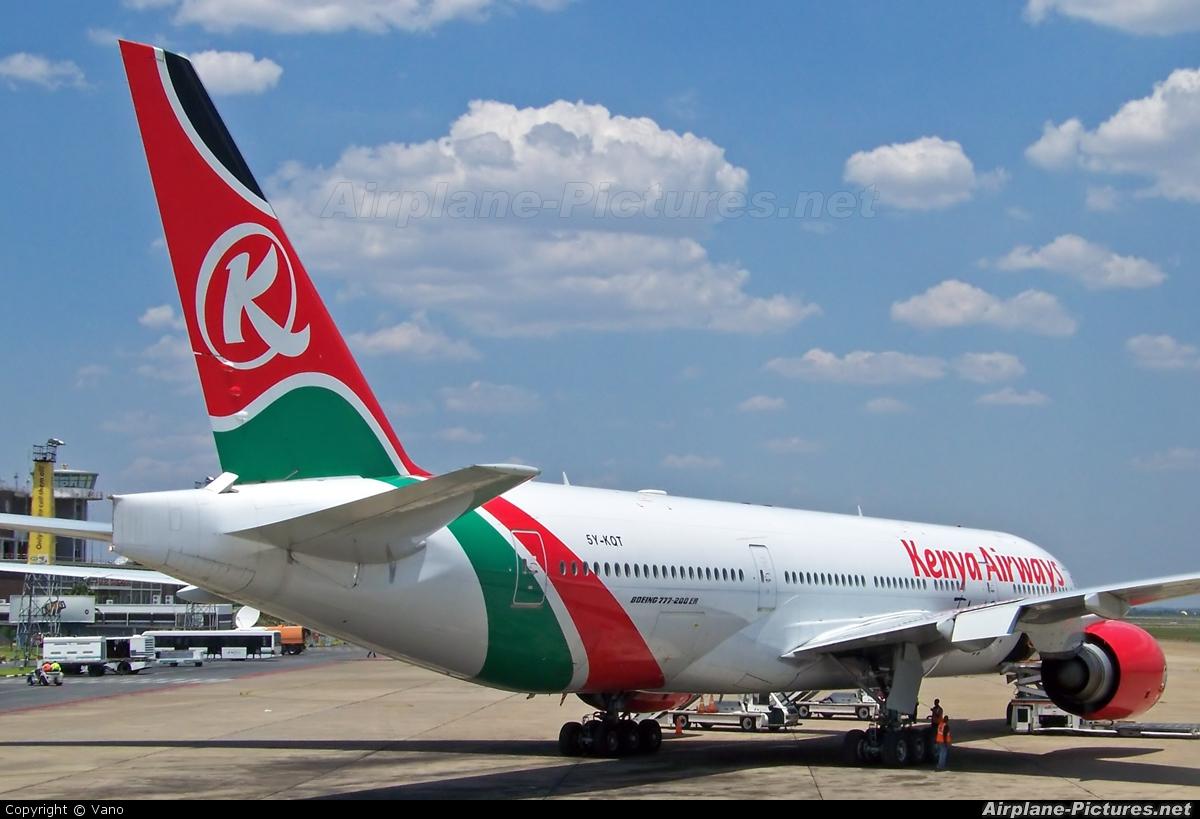 Kenya Airways 5Y-KQT aircraft at Lusaka