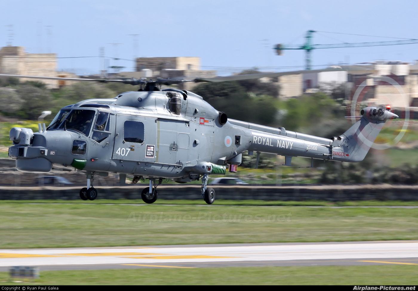 Royal Navy ZD566 aircraft at Malta Intl