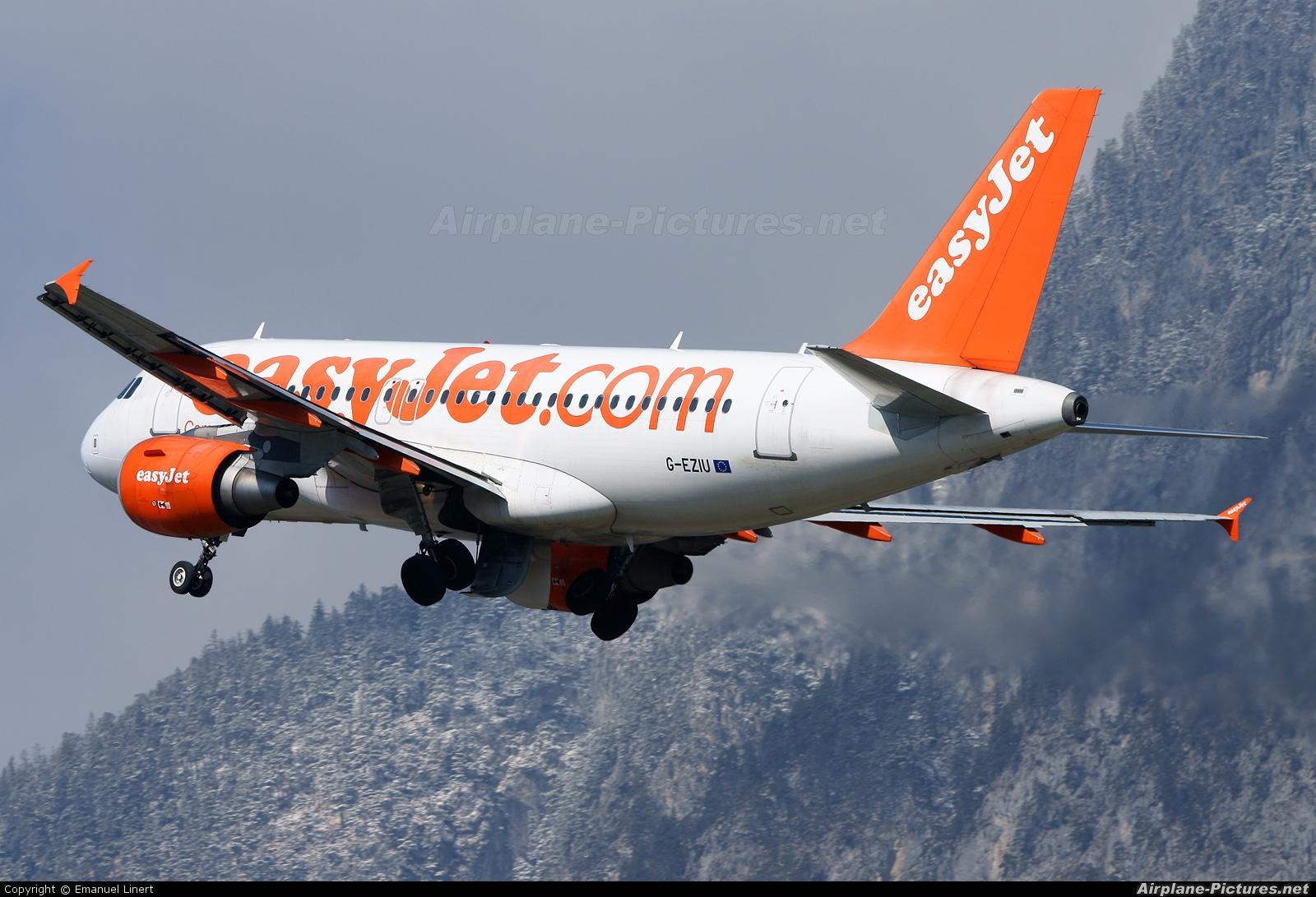 easyJet G-EZIU aircraft at Innsbruck