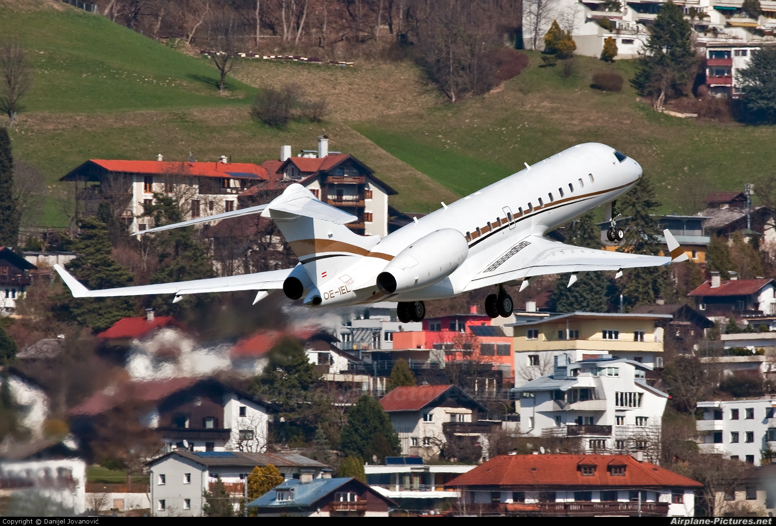 Tyrolean Jet Service OE-IEL aircraft at Innsbruck