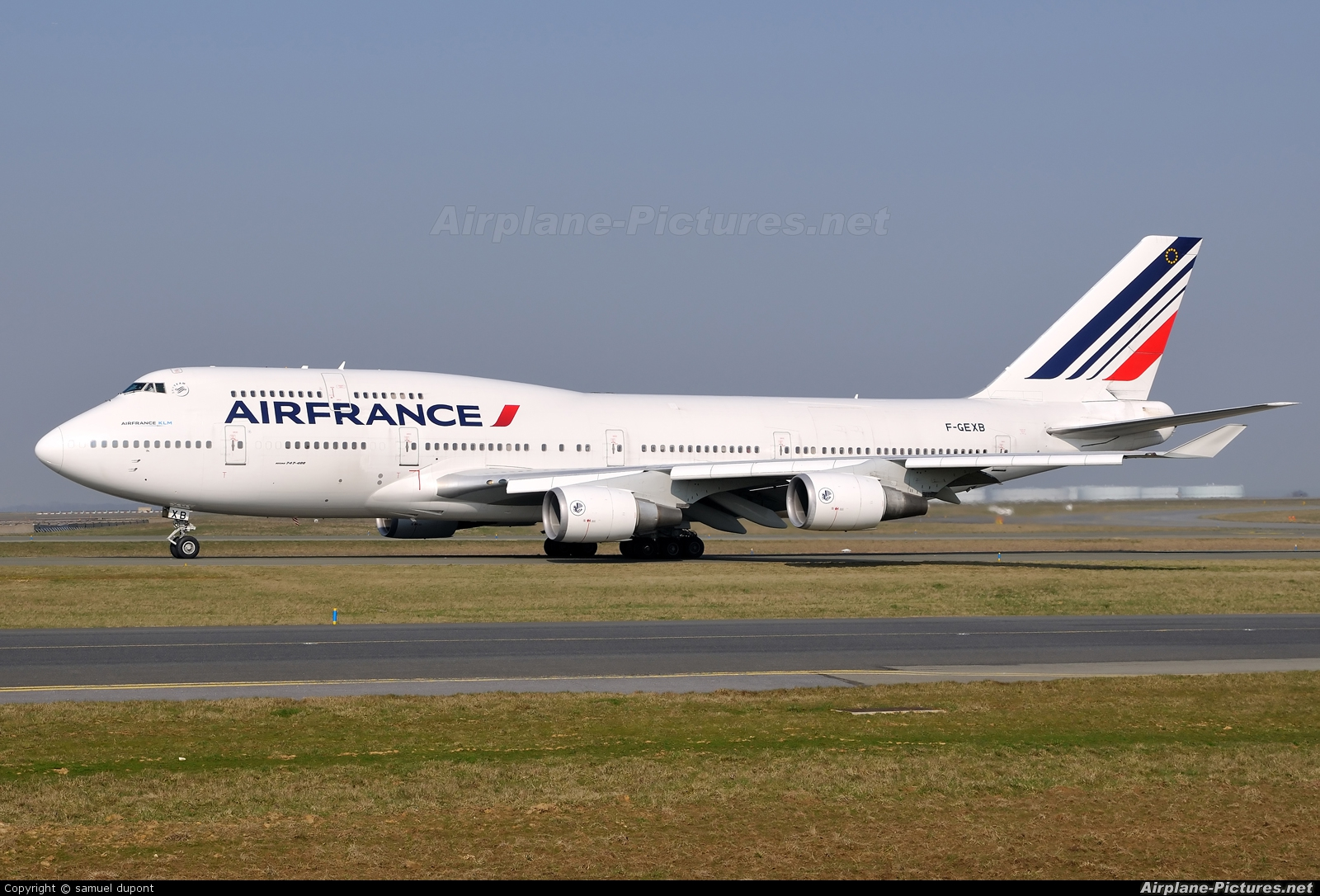 F gexb air france boeing 747 400 at paris charles de for Interieur 747 air france