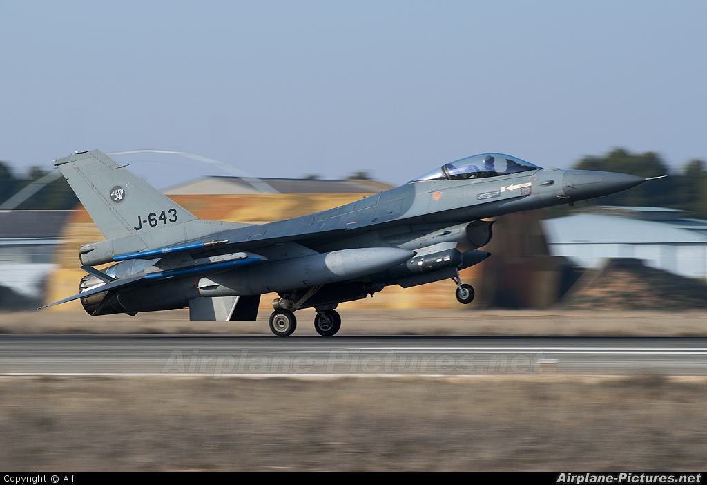 Netherlands - Air Force J-643 aircraft at Albacete