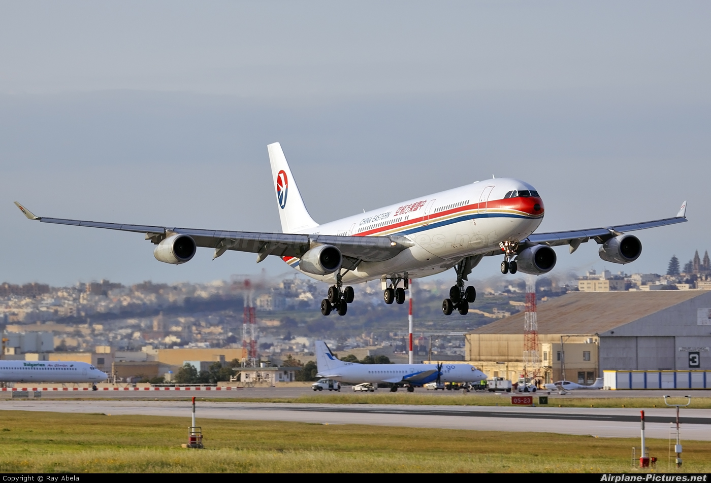 China Eastern Airlines B-2382 aircraft at Malta Intl