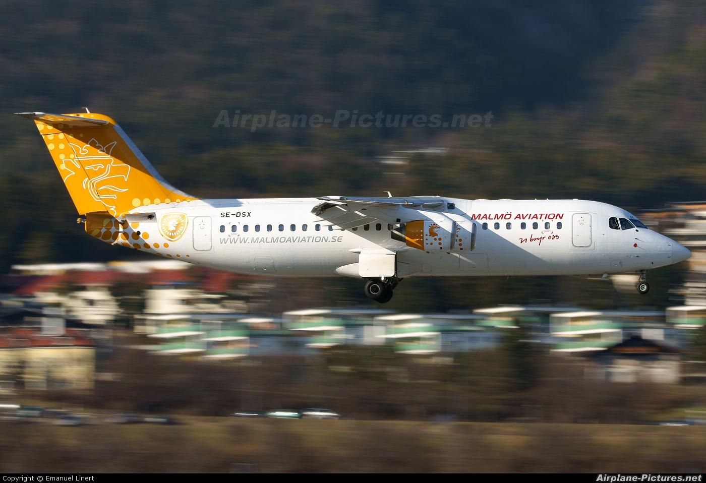 Malmo Aviation SE-DSX aircraft at Innsbruck
