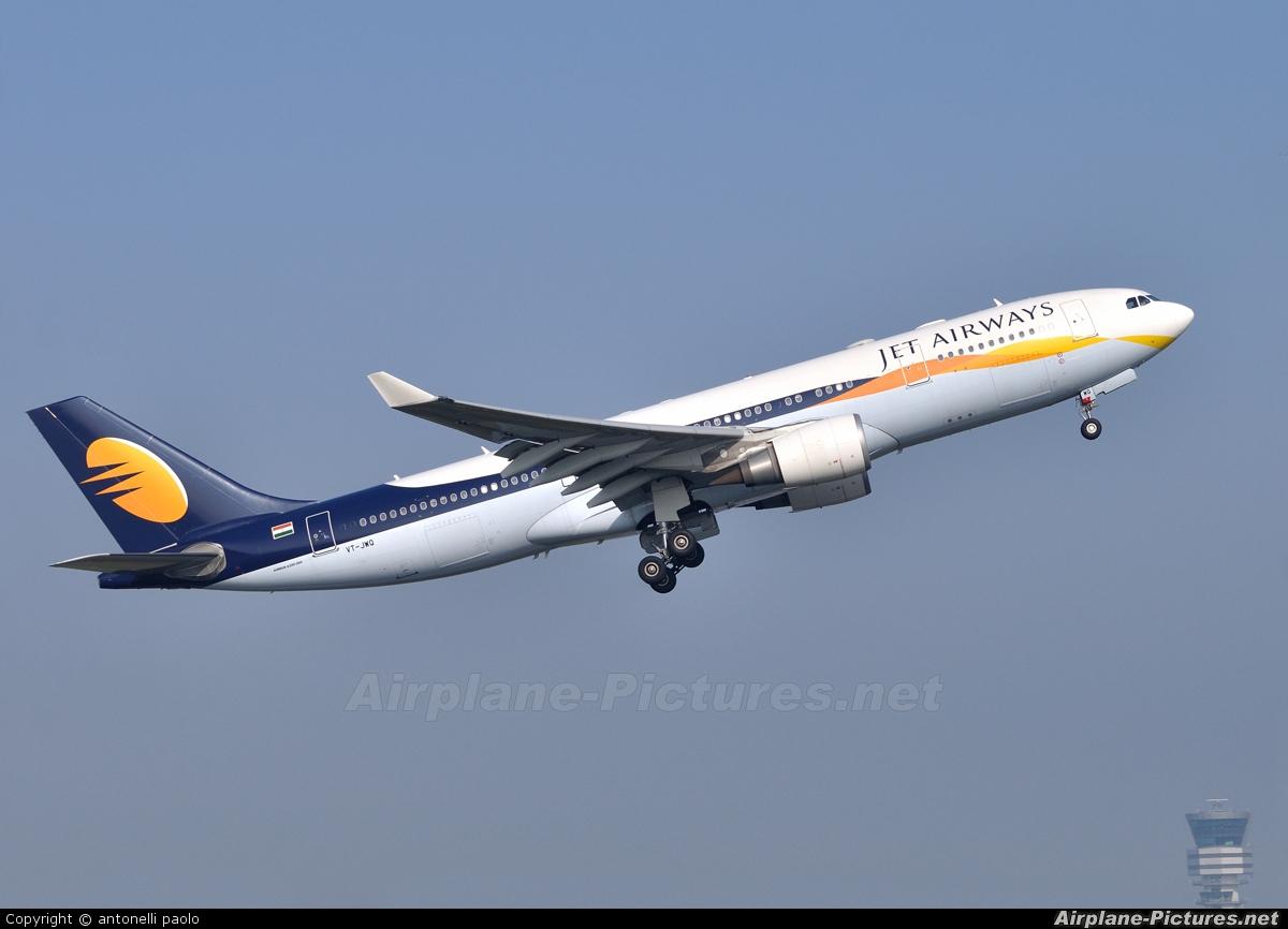 Jet Airways VT-JWQ aircraft at Brussels - Zaventem