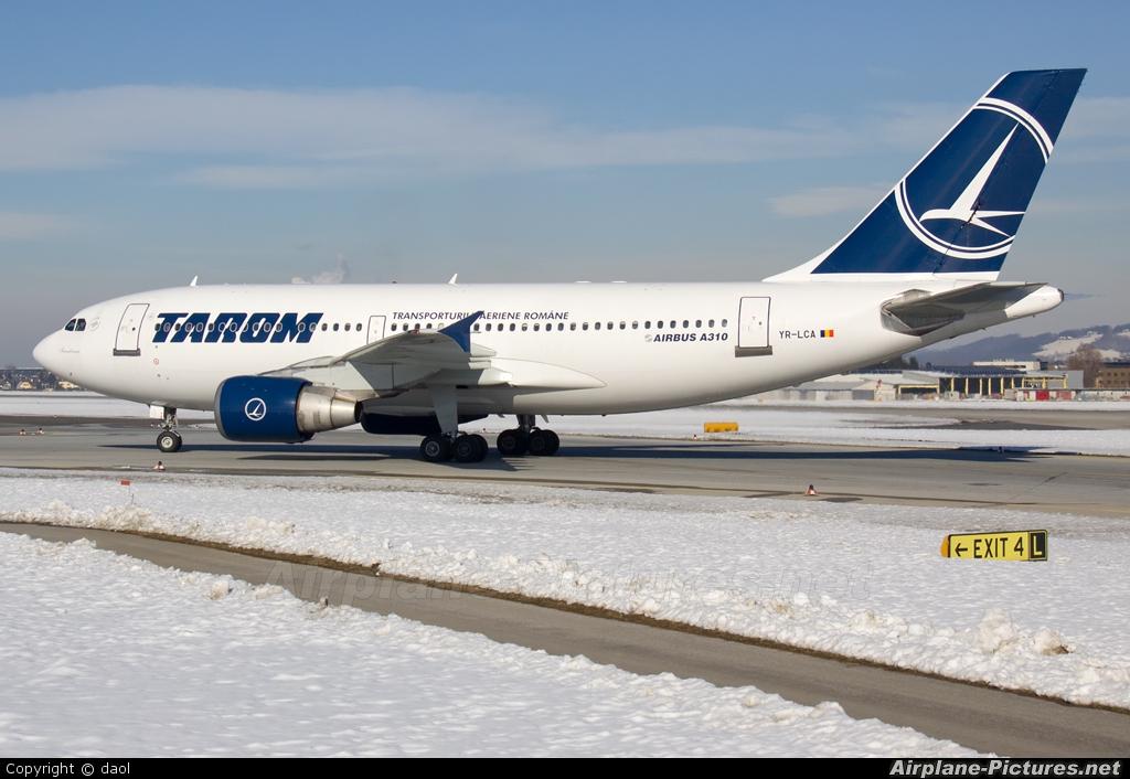 Tarom YR-LCA aircraft at Salzburg