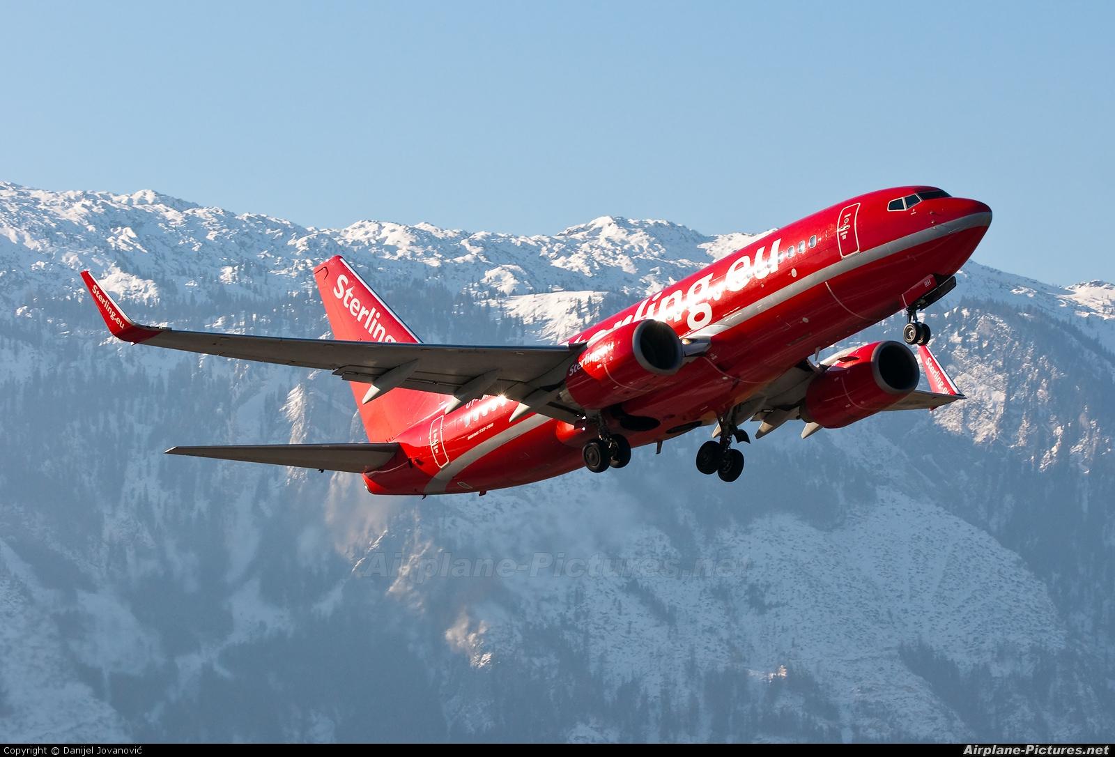 Sterling OY-MRH aircraft at Salzburg