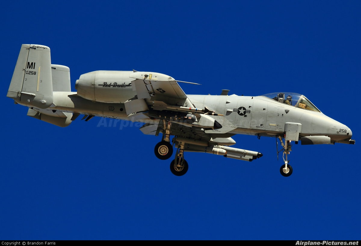 USA - Air Force 80-0258 aircraft at Nellis AFB