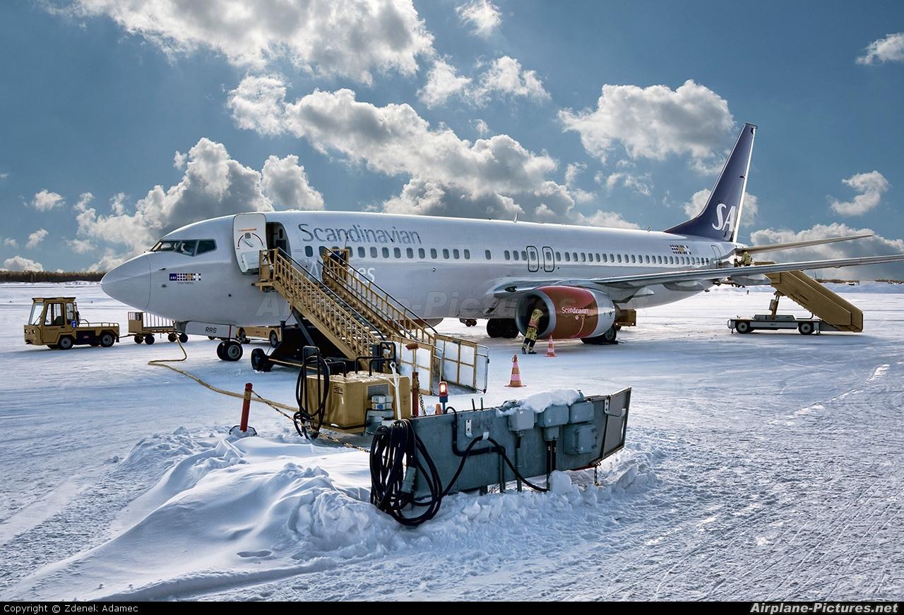SAS - Scandinavian Airlines LN-RRS aircraft at Kiruna