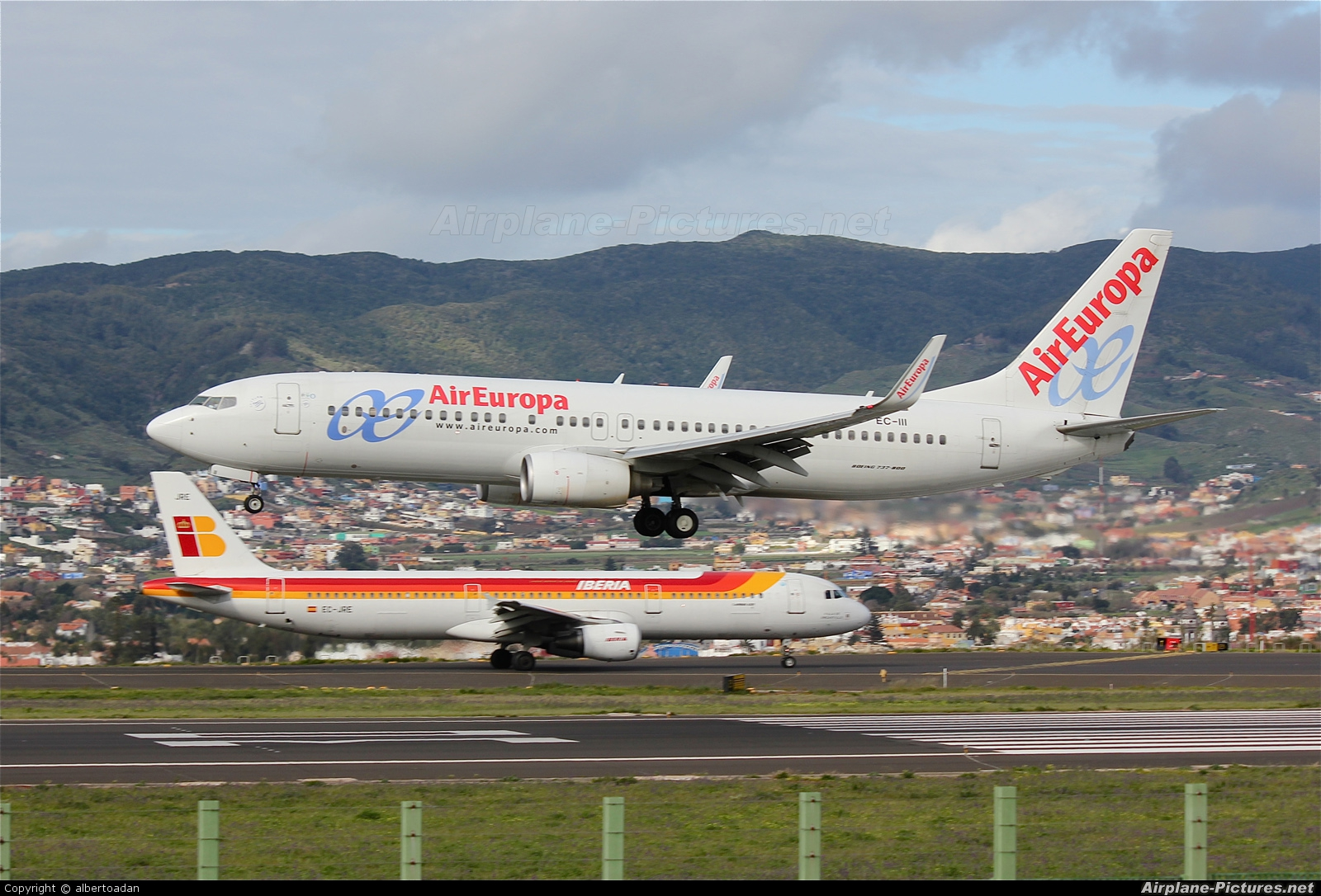 Air Europa EC-III aircraft at Tenerife Norte - Los Rodeos