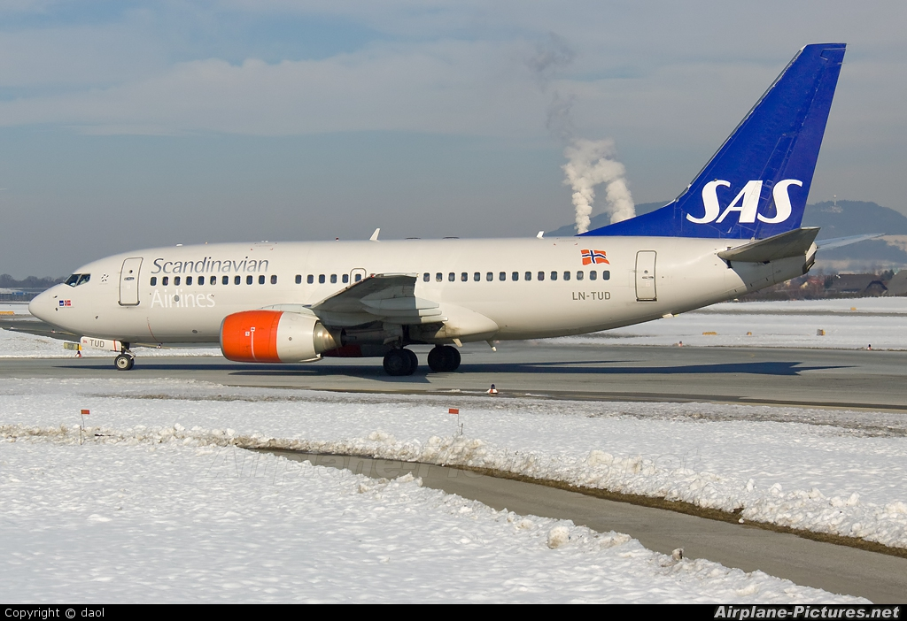 SAS - Scandinavian Airlines LN-TUD aircraft at Salzburg