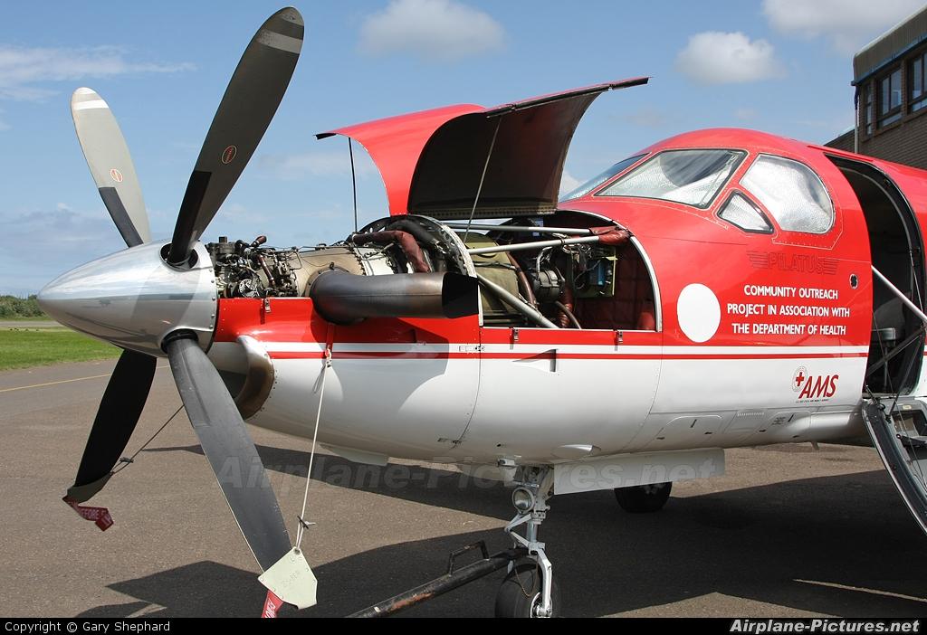 Red Cross Air Mercy Service ZS-BEB aircraft at Durban - Virginia