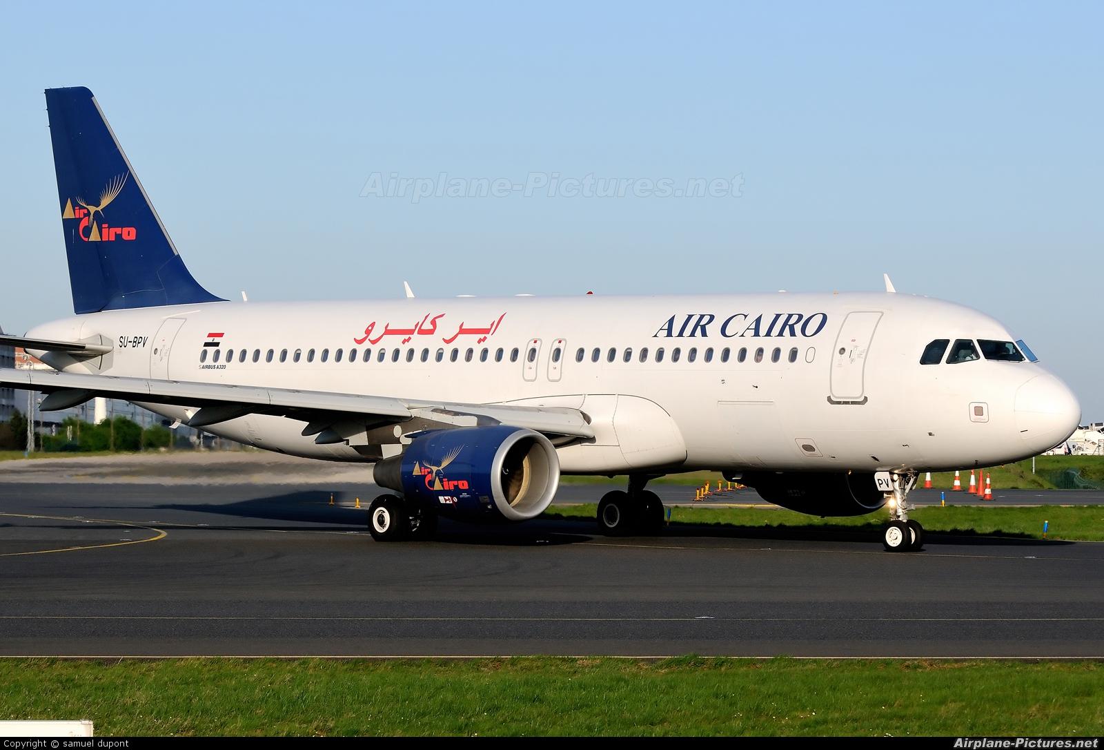 Air Cairo SU-BPV aircraft at Paris - Charles de Gaulle