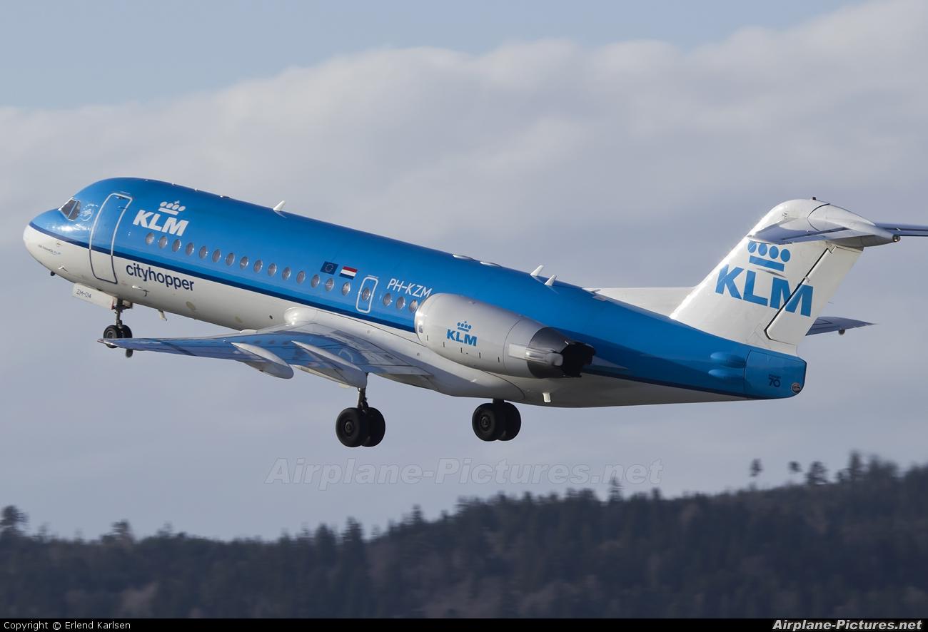 KLM Cityhopper PH-KZM aircraft at Trondheim - Vaernes