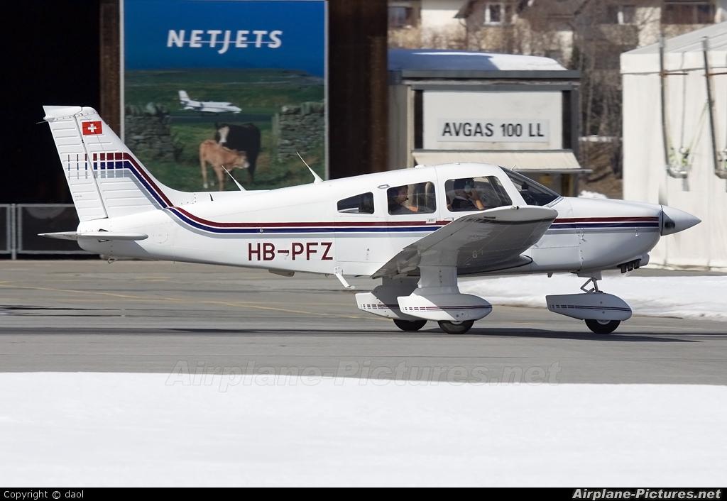 Private HB-PFZ aircraft at Samedan - Engadin