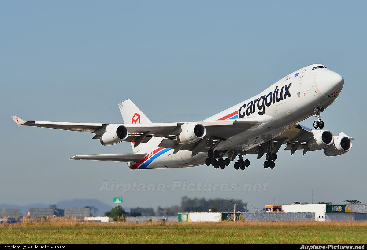 Cargolux LX-VCV aircraft at Curitiba -  Afonso Pena