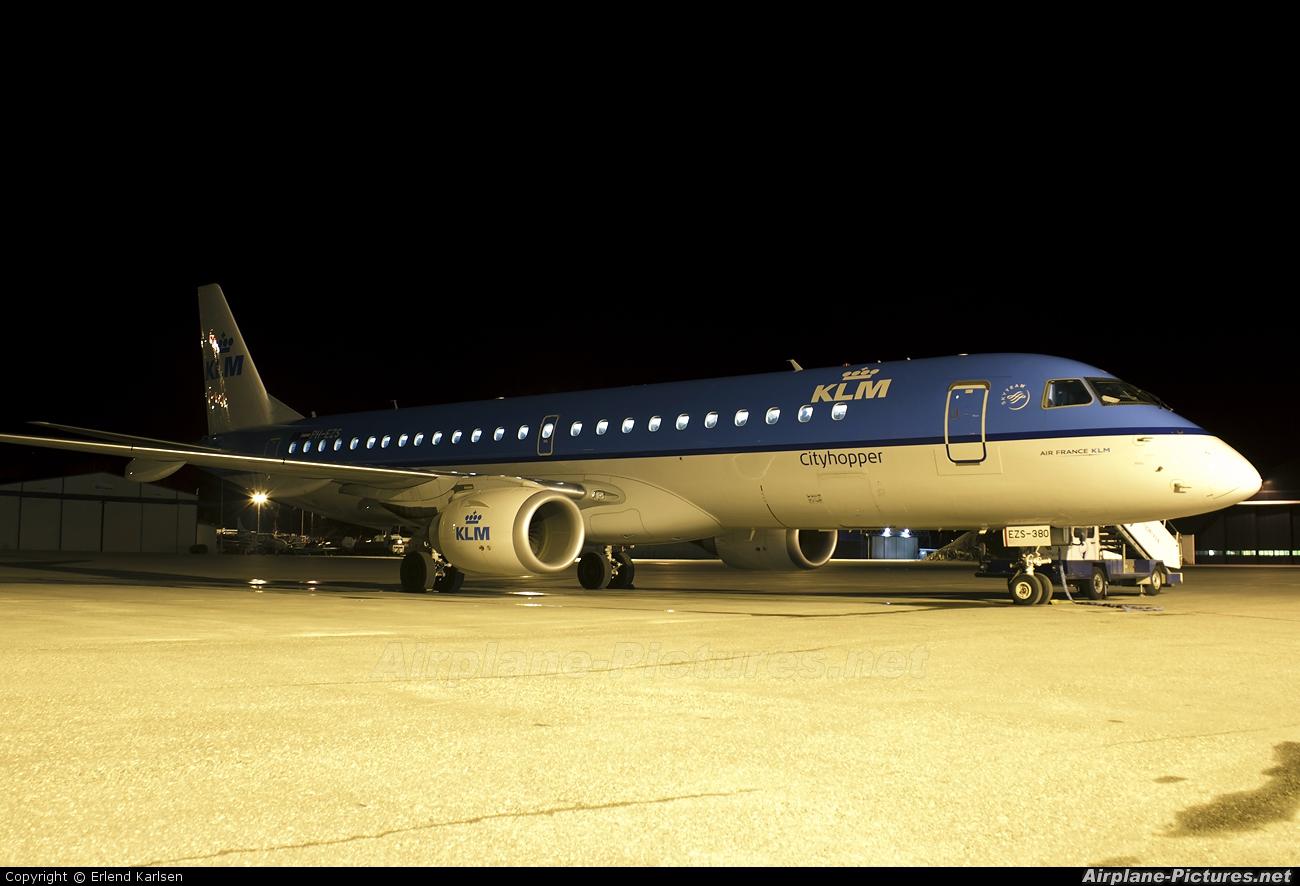 KLM Cityhopper PH-EZS aircraft at Trondheim - Vaernes