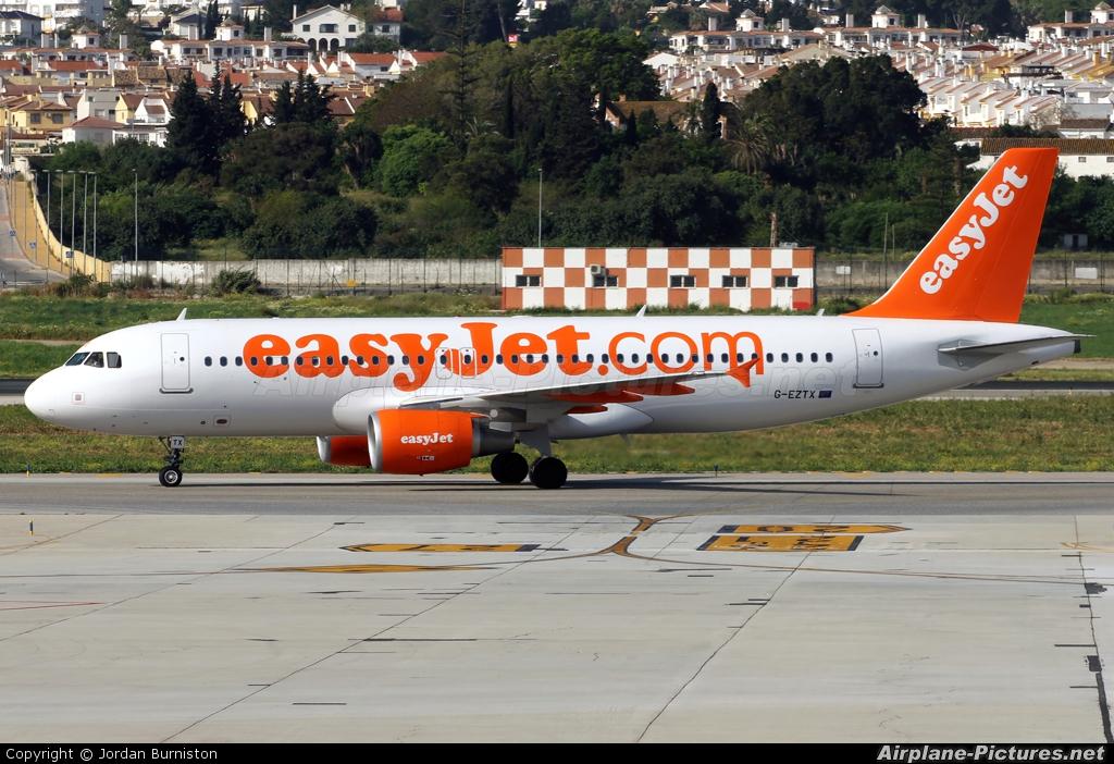 easyJet G-EZTX aircraft at Málaga