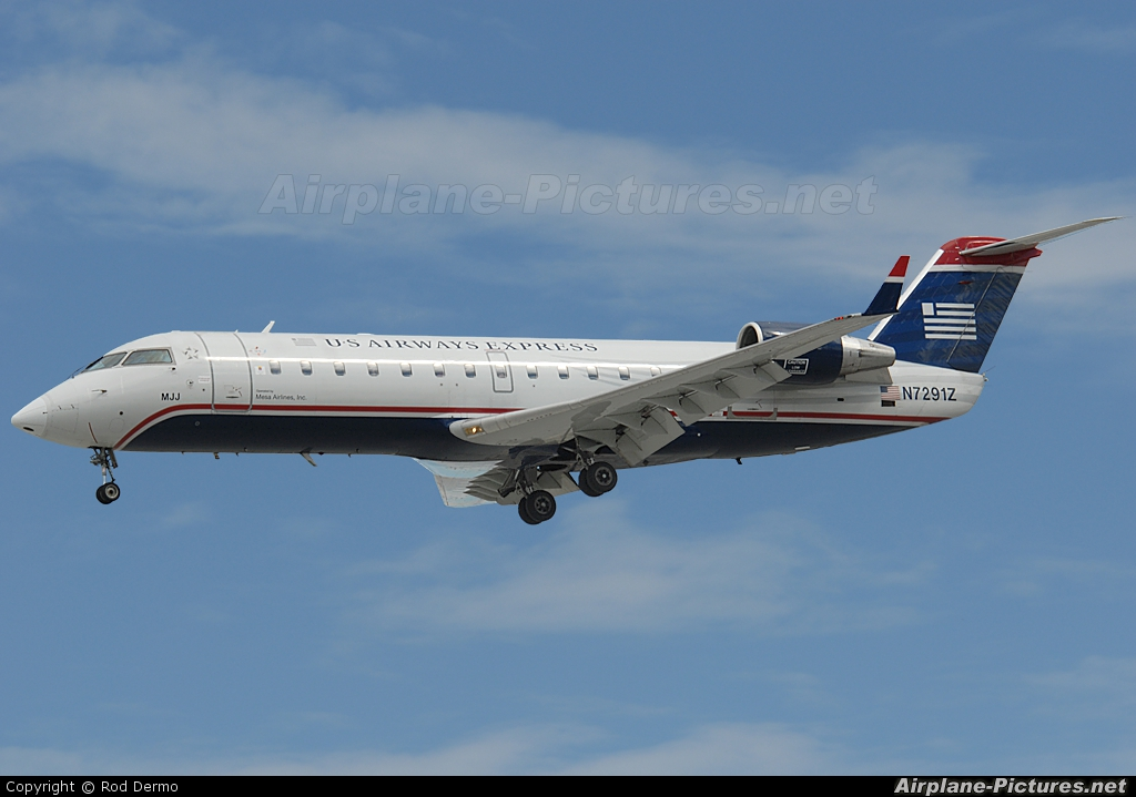 US Airways Express N7291Z aircraft at Palm Springs Intl
