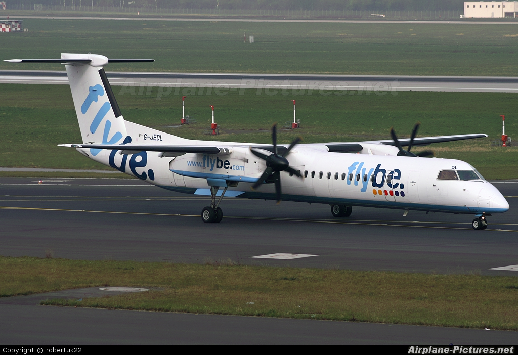Flybe G-JEDL aircraft at Düsseldorf