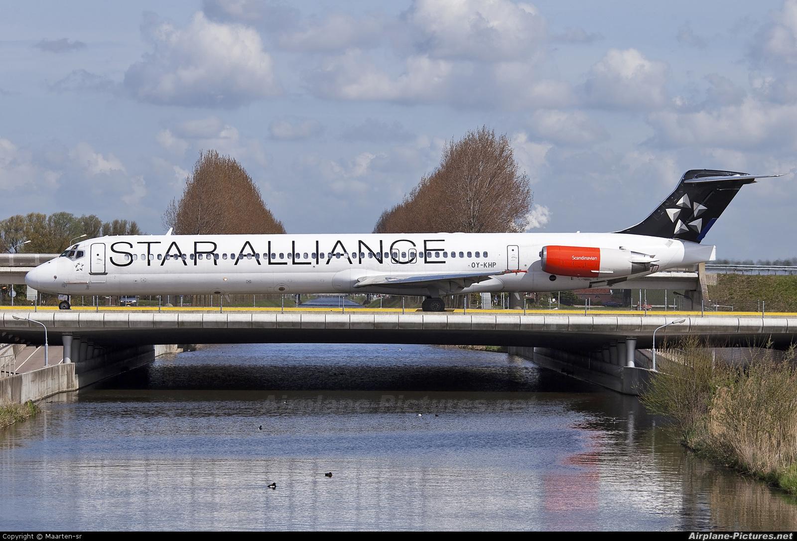 SAS - Scandinavian Airlines OY-KHP aircraft at Amsterdam - Schiphol
