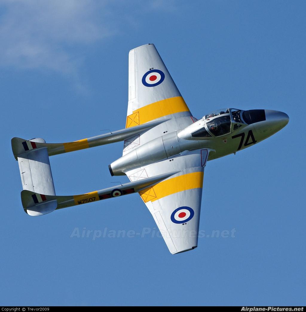 Vampire Preservation Group G-VTII aircraft at Northampton / Sywell