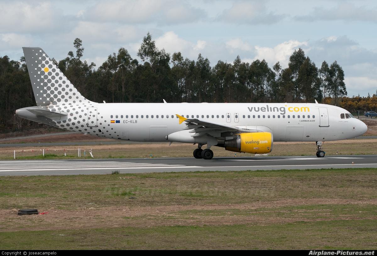 Vueling Airlines EC-KLB aircraft at Santiago de Compostela