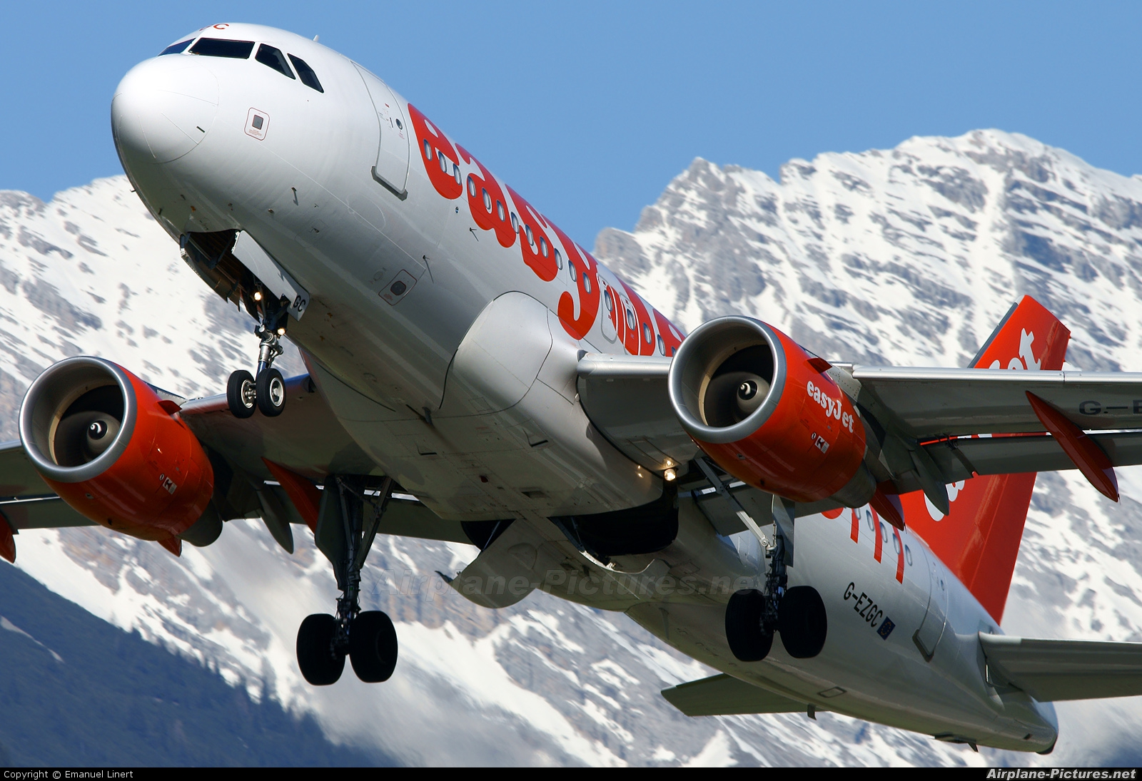 easyJet G-EZGC aircraft at Innsbruck