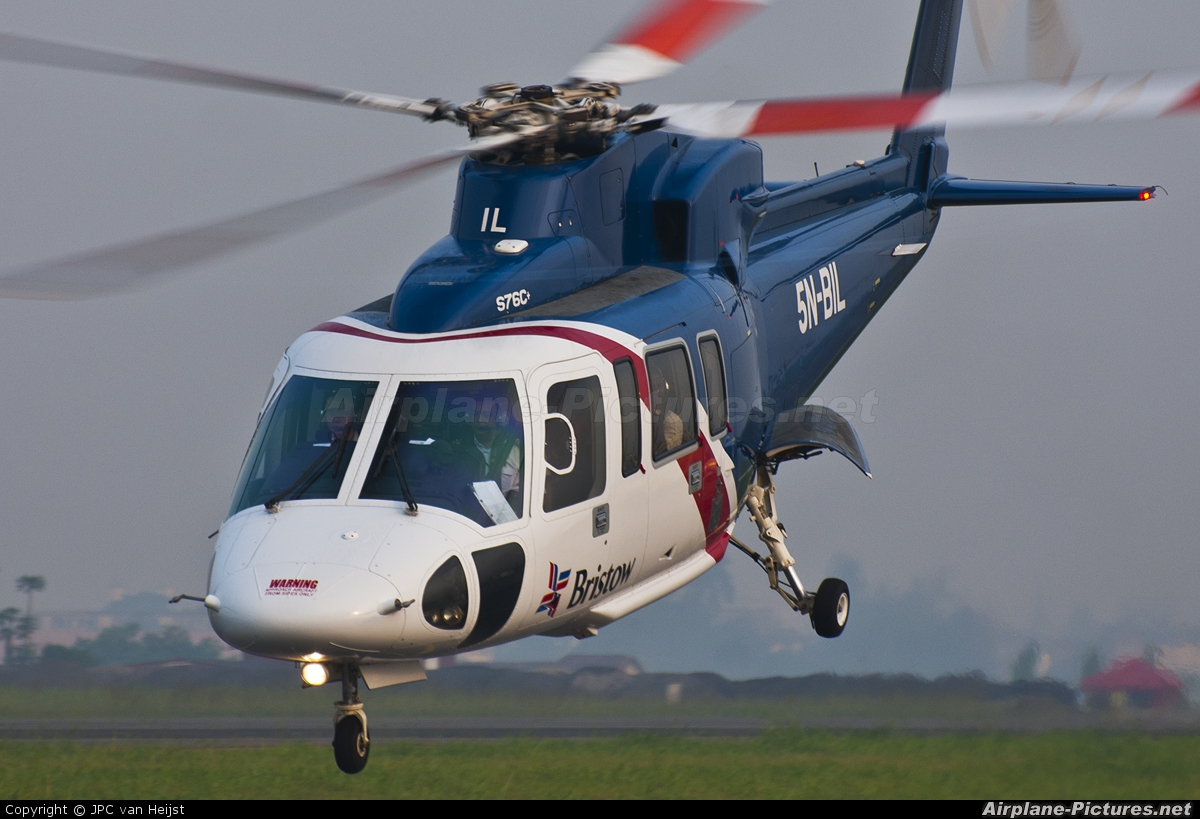 Bristow Helicopters 5N-BIL aircraft at Lagos - Murtala Muhammed