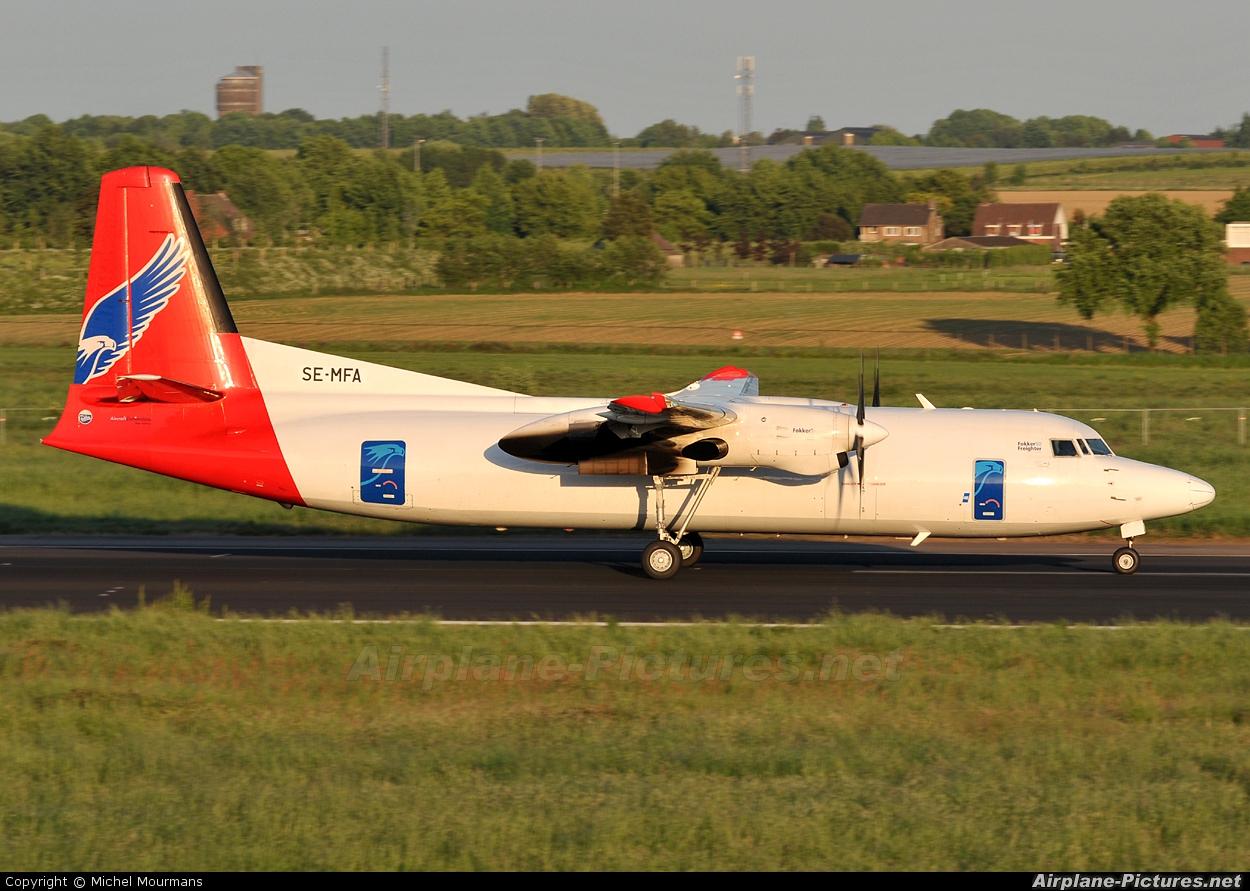 AmaPola Flyg SE-MFA aircraft at Maastricht - Aachen