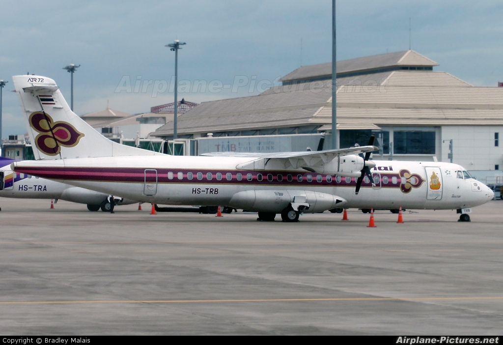 Thai Airways HS-TRB aircraft at Chiang-Mai