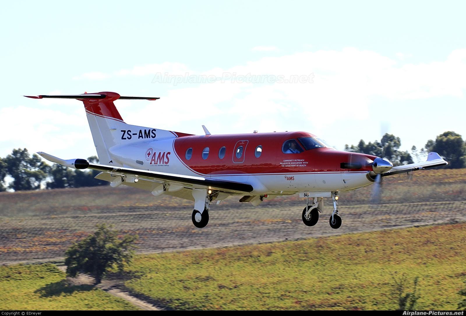 Red Cross Air Mercy Service ZS-AMS aircraft at Bethlehem