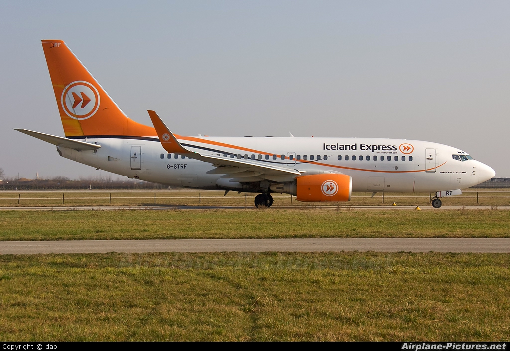 Iceland Express G-STRF aircraft at Verona - Villafranca