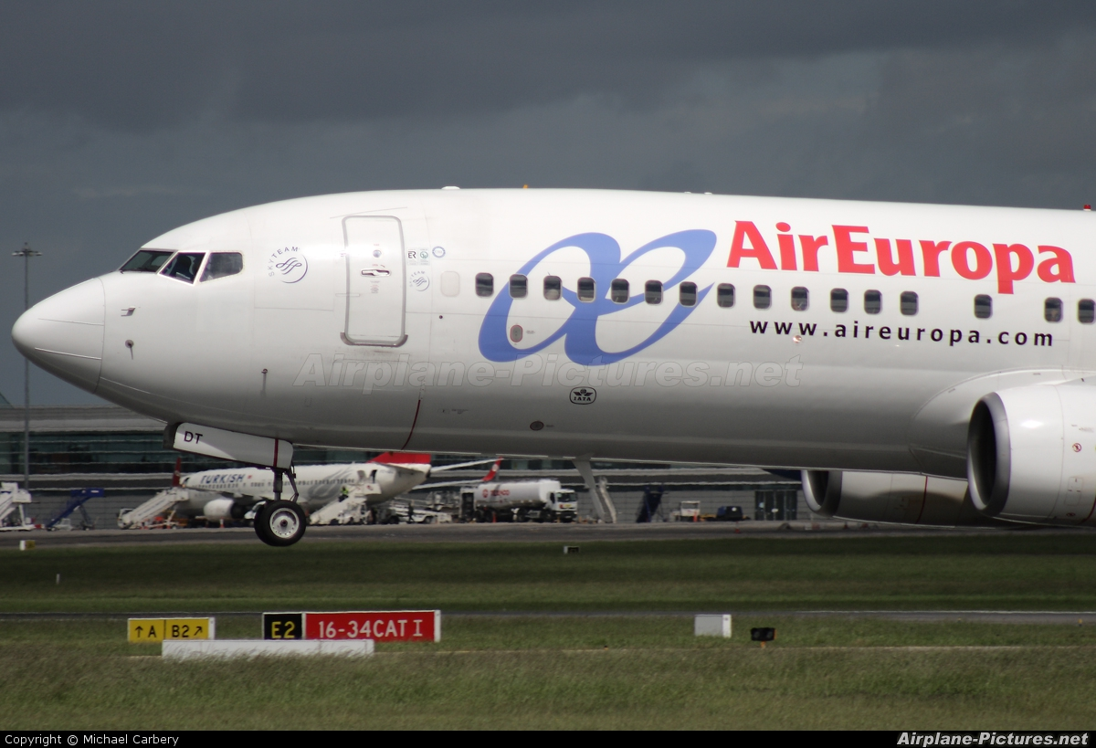 Air Europa EC-IDT aircraft at Dublin