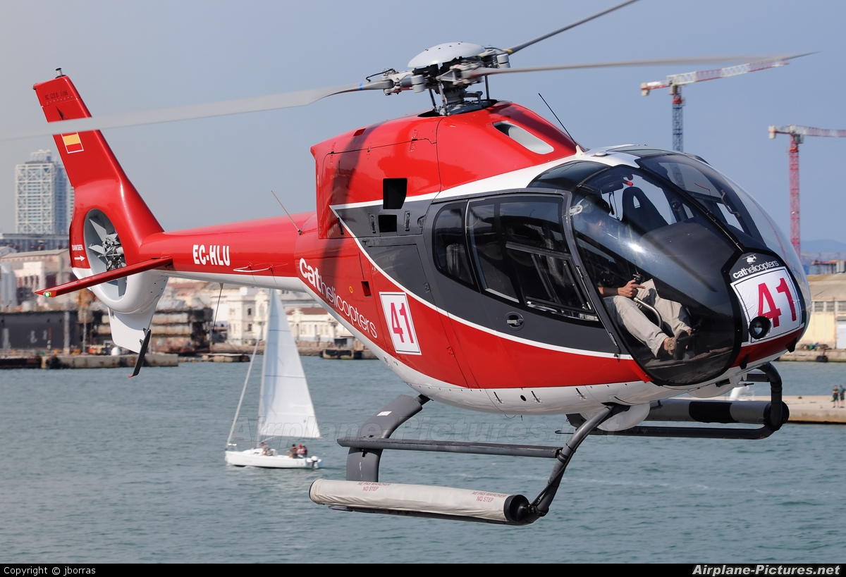 CAT Helicopters EC-HLU aircraft at Barcelona - Heliport