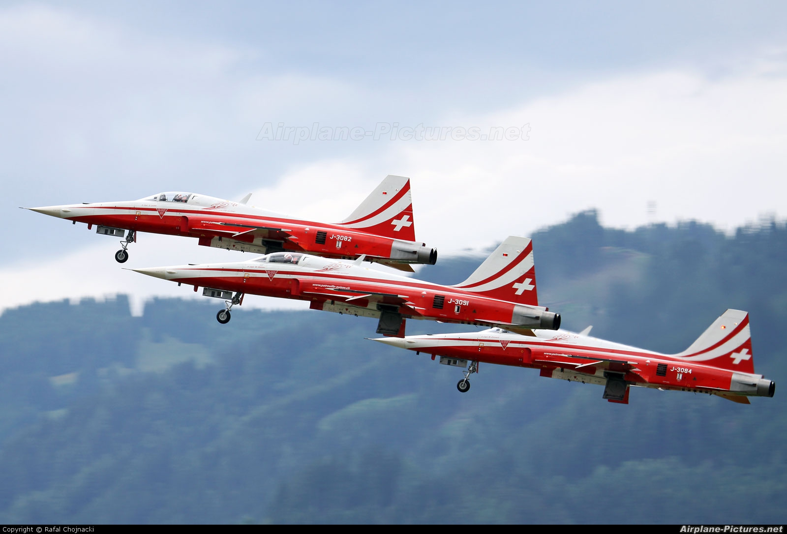Switzerland - Air Force:  Patrouille de Suisse J-3082 aircraft at Zeltweg