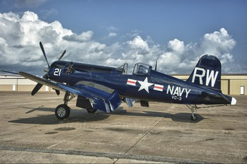 N43RW - Texas Aviation Hall of fame Vought F4U Corsair