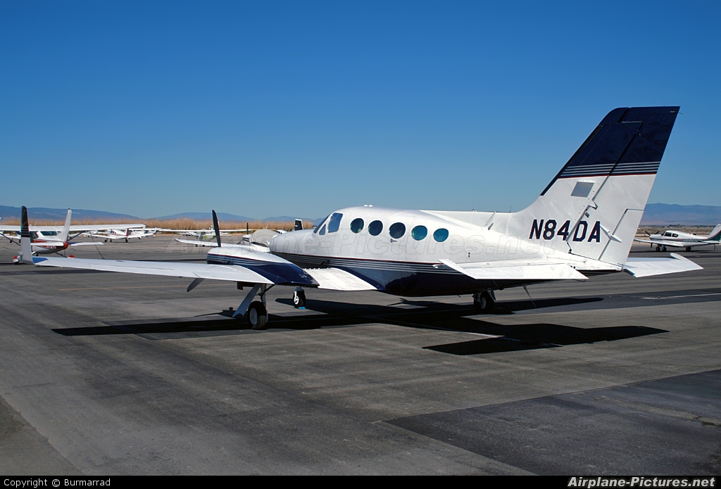 Private N84DA aircraft at Lancaster - General William J Fox